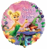 "17"" Disney Fairies Tinker Bell 'Sweet Birthday Wishes' Foil Balloon"