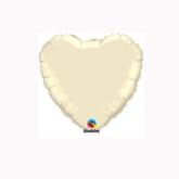 "Pearl Ivory 4"" Heart Foil Balloon"