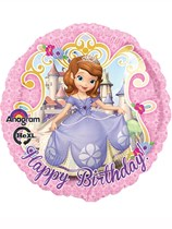 "18"" Sofia the First Happy Birthday Foil Balloon"