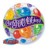 "22"" Congratulations Bubble Balloon"