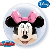 "Minnie Mouse 24"" Double Bubble Balloon"