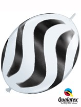 "Wavy Stripes 12"" Quick Link Latex Balloons 50pk"