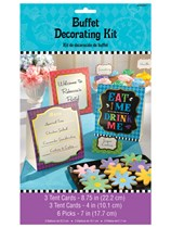 Mad Tea Party Paper Buffet Decoration Kit 12pk