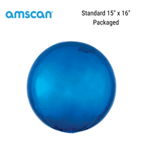 Orbz Blue Foil Balloon Packaged