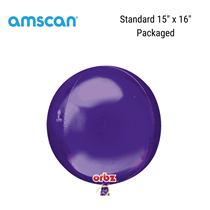Orbz Purple Foil Balloon Packaged