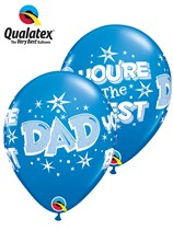 Dad You're The Best Starburst Latex Balloons 6pk