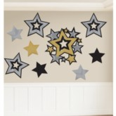 Metallic Stars Cut Out Decorations