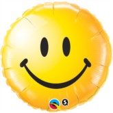 "18"" Yellow Smiley Face Emoticon Foil Balloon"