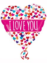 "Valentine's Day I Love You Banner 21"" Colourblast Foil Balloon"