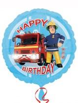 "Fireman Sam Happy Birthday 18"" Foil Balloon"