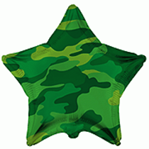 """Camouflage Star Shaped 18"""" Foil Balloon"""