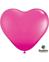 "15"" Wild Berry Latex Heart Balloons 50pk"