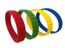 Building Bricks Silicone Bracelets Favours 48pk