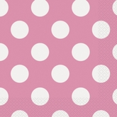16 Decorative Dots Hot Pink Luncheon Napkins