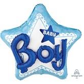 "Baby Boy 3D Star 32"" Supershape Foil Balloon"