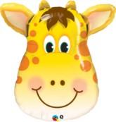 """Jolly Giraffe 32"""" SuperShape Foil Balloon"""