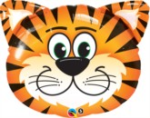 """Tickled Tiger 30"""" SuperShape Foil Balloon"""
