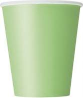 Lime Green 9oz Paper Cups 8pk