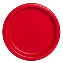 Ruby Red Paper 23cm Party Plate 16 Pack
