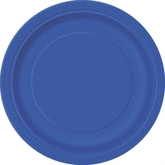 "Royal Blue 9"" Round Paper Plates 8pk"