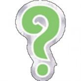 Question Mark Balloon Stickers 48pk