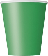 Emerald Green 9oz Paper Cups 8pk