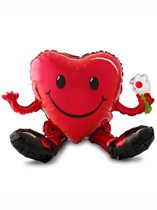 "Valentine's Day Smiley Heart 20"" Multi-Foil Balloon"
