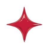 """Ruby Red 20"""" Starpoint Foil Balloon - Air Fill"""
