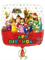 """Super Mario Bros Happy Birthday 18"""" Foil Balloon"""