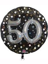 "Gold Celebration 50th Birthday 3D Supershape 36"" Foil Balloon"