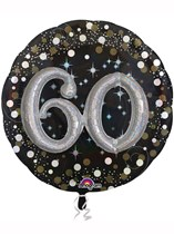 "Gold Celebration 60th Birthday 3D Supershape 36"" Foil Balloon"