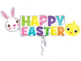 Happy Easter Supershape Foil Balloon