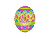 """Mini Bright Easter Egg 9"""" Air Fill Foil Balloon"""