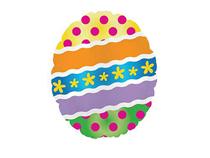 "Mini Easter Egg 9"" Air Fill Foil Balloon"