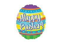 "Happy Easter Egg 9"" Mini Air Fill Foil Balloon"