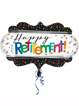 "Happy Retirement 27"" Supershape Foil Balloon"