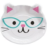 Purrfect Cat Party Mixed Pack 23cm Shaped Dinner Plates 8pk