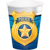 Police Party 9oz Paper Cups 8pk