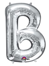 "34"" Silver Letter B Foil Balloon"