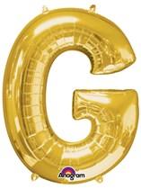 """34"""" Gold Letter G Foil Balloon"""