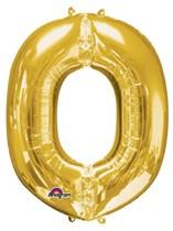 """34"""" Gold Letter O Foil Balloon"""
