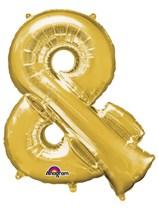 "34"" Gold & Symbol Foil Balloon"
