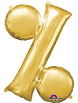 "34"" Gold Percentage % Symbol Foil Balloon"