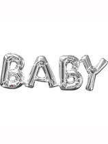 "Silver Baby 26"" Air Fill Shape Foil Balloon"