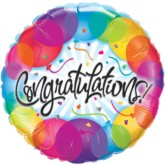 "18"" Colourful Congratulations Foil Balloon"