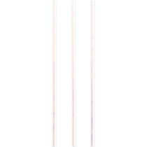 Iridescent Foil Unicorn Baby Paper Straws 24pk