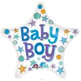 "Baby Boy Star 18"" Foil Balloon"