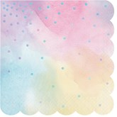 Pastel Iridescent Shaped Lunch Napkins 16pk