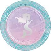 Iridescent Mermaid 22cm Paper Plate 8pk