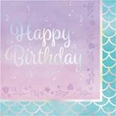 Iridescent Happy Birthday Lunch Napkins 16pk